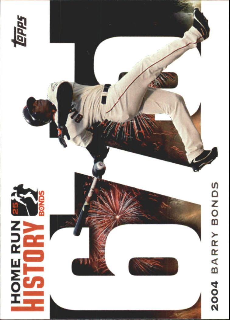 2005 Topps Barry Bonds Home Run History #675 Barry Bonds HR675
