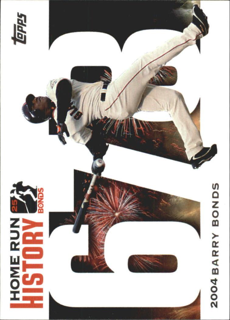 2005 Topps Barry Bonds Home Run History #678 Barry Bonds HR678