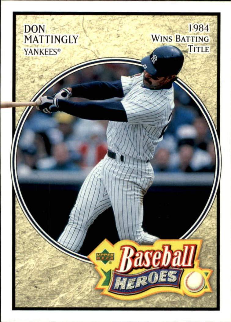 2005 Upper Deck Baseball Heroes #21 Don Mattingly