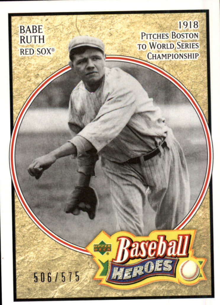 2005 Upper Deck Baseball Heroes #101 Babe Ruth Sox