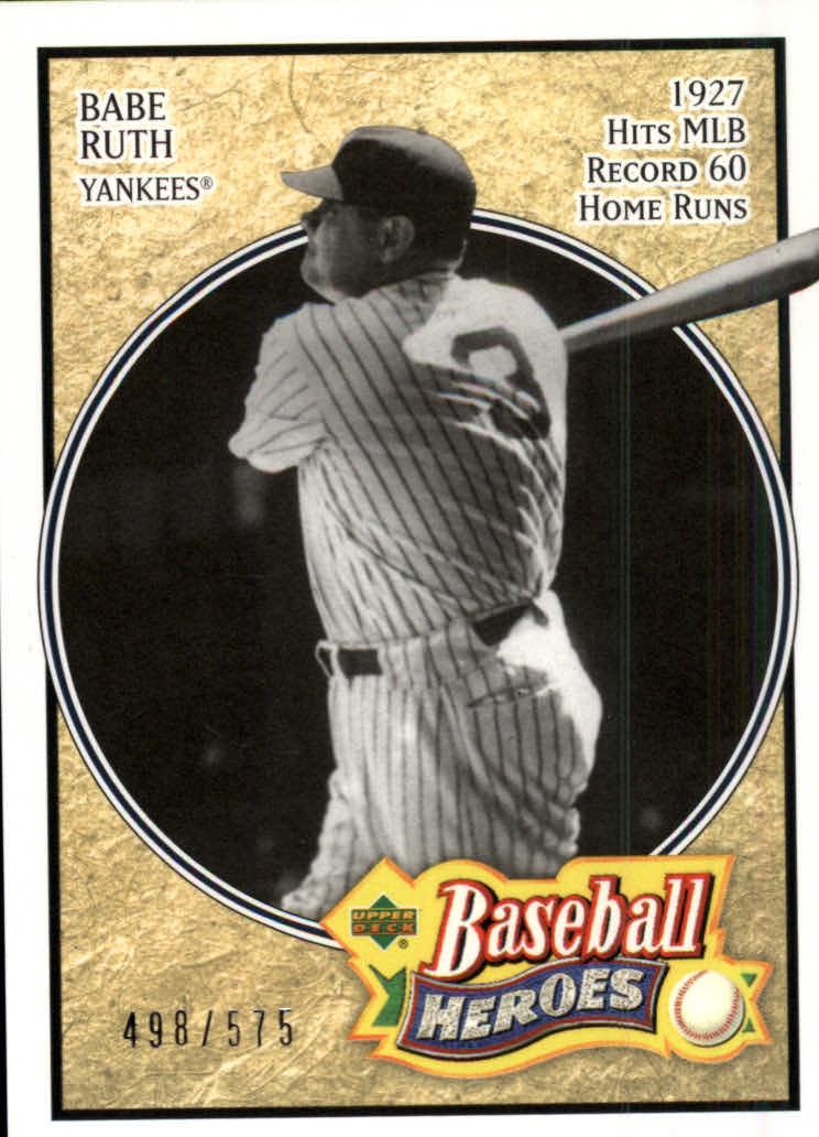 2005 Upper Deck Baseball Heroes #102 Babe Ruth Yanks