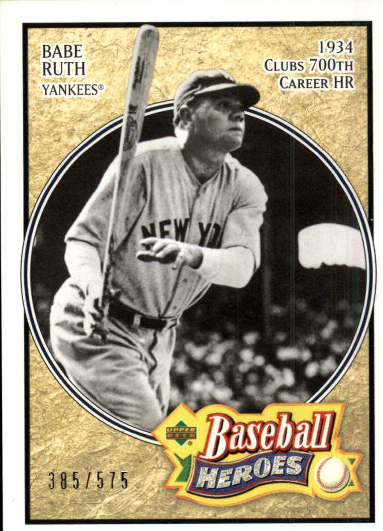2005 Upper Deck Baseball Heroes #103 Babe Ruth Yanks