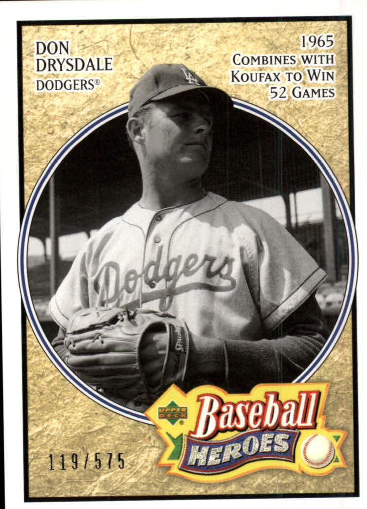 2005 Upper Deck Baseball Heroes #113 Don Drysdale