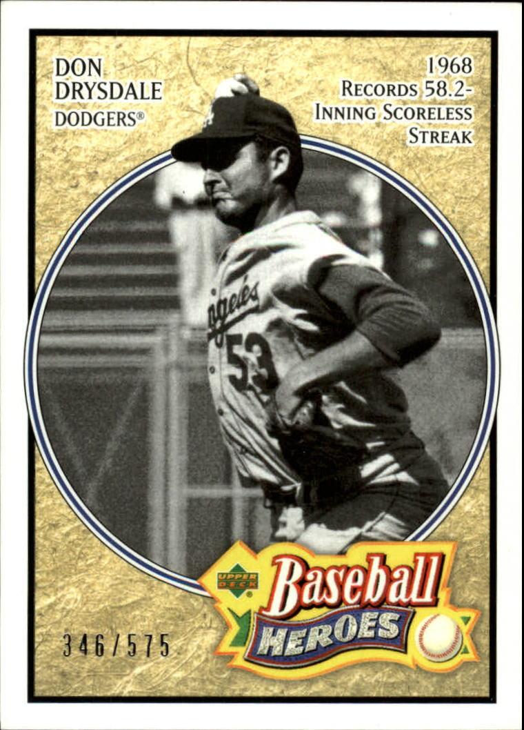 2005 Upper Deck Baseball Heroes #114 Don Drysdale