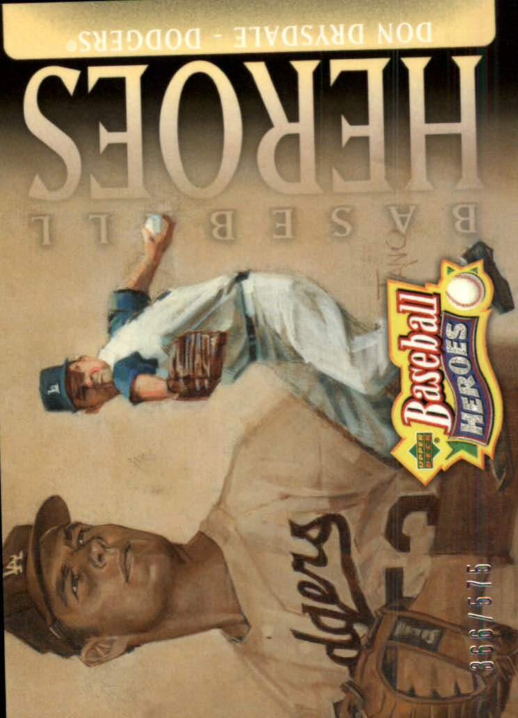 2005 Upper Deck Baseball Heroes #115 Don Drysdale HDR