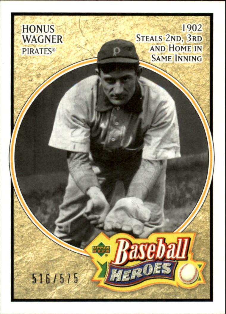 2005 Upper Deck Baseball Heroes #121 Honus Wagner