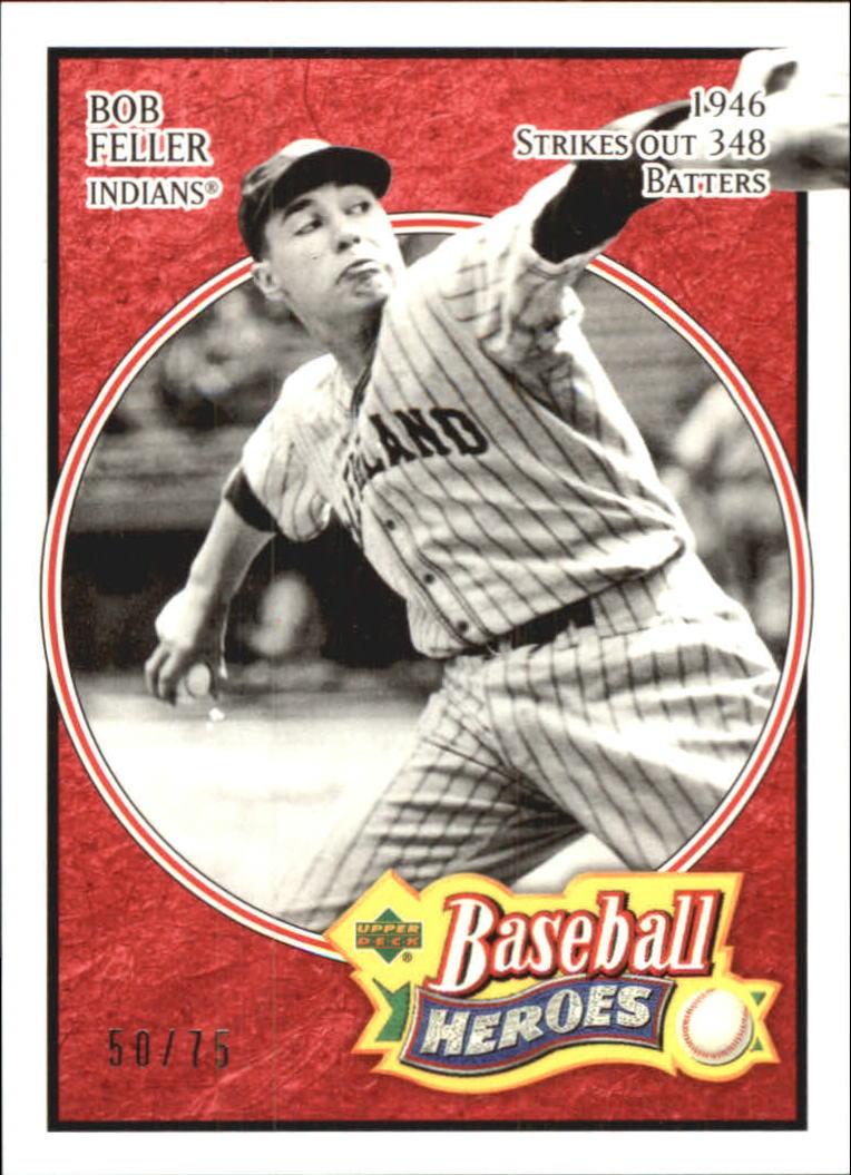 2005 Upper Deck Baseball Heroes Red #4 Bob Feller