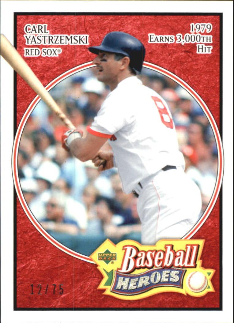 2005 Upper Deck Baseball Heroes Red #18 Carl Yastrzemski