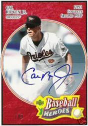 2005 Upper Deck Baseball Heroes Signature Blue #11 Cal Ripken