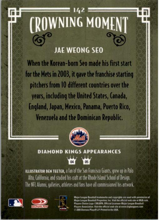 2005 Diamond Kings #142 Jae Weong Seo back image