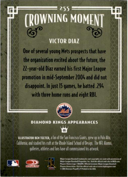 2005 Diamond Kings #255 Victor Diaz back image