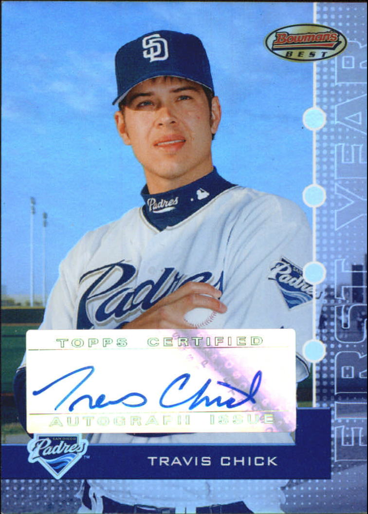 2005 Bowman's Best Silver #101 Travis Chick FY AU