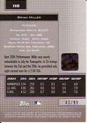 2005 Bowman's Best Silver #110 Brian Miller FY AU back image