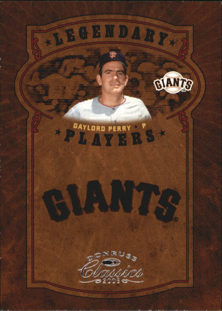 2005 Donruss Classics Legendary Players #16 Gaylord Perry