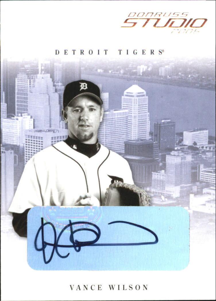 2005 Studio Autographs #117 Vance Wilson