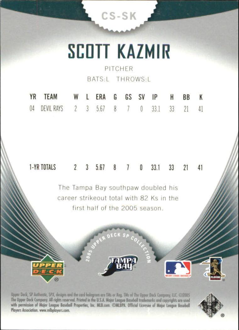 2005 SP Collection of Stars #SK Scott Kazmir back image
