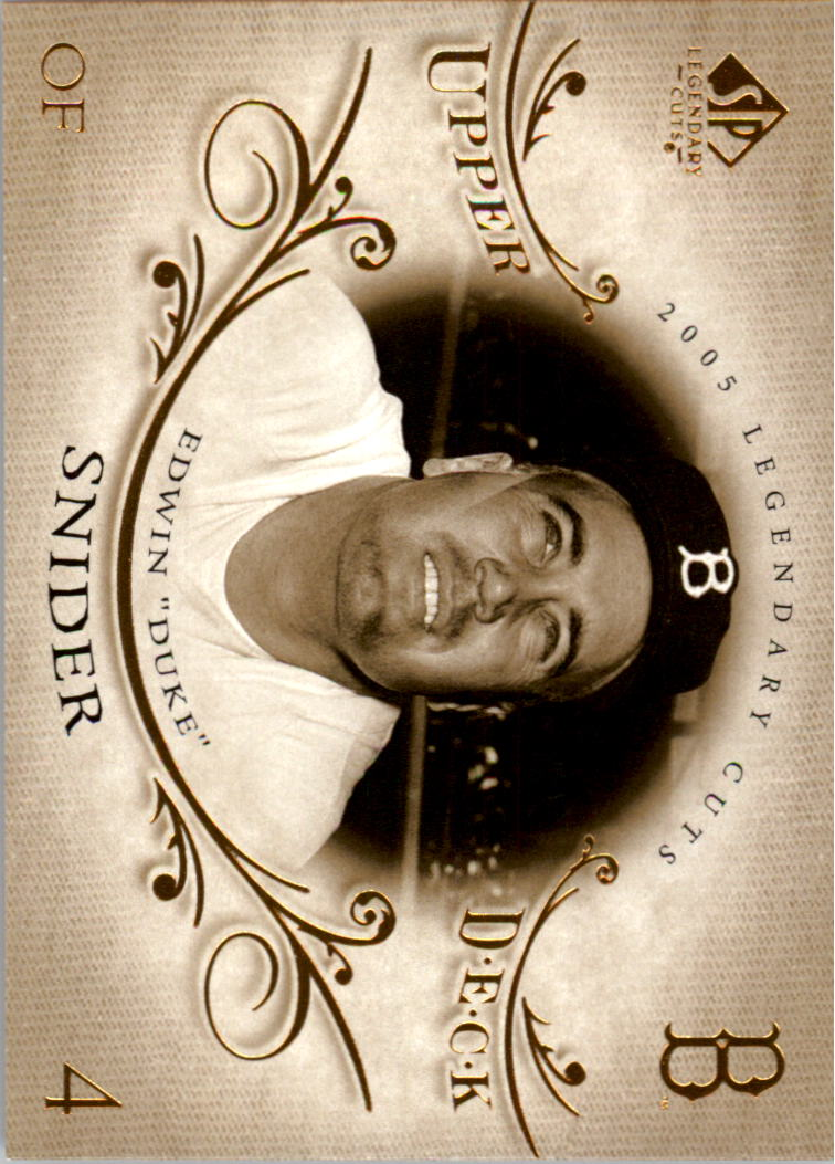 2005 SP Legendary Cuts #20 Duke Snider