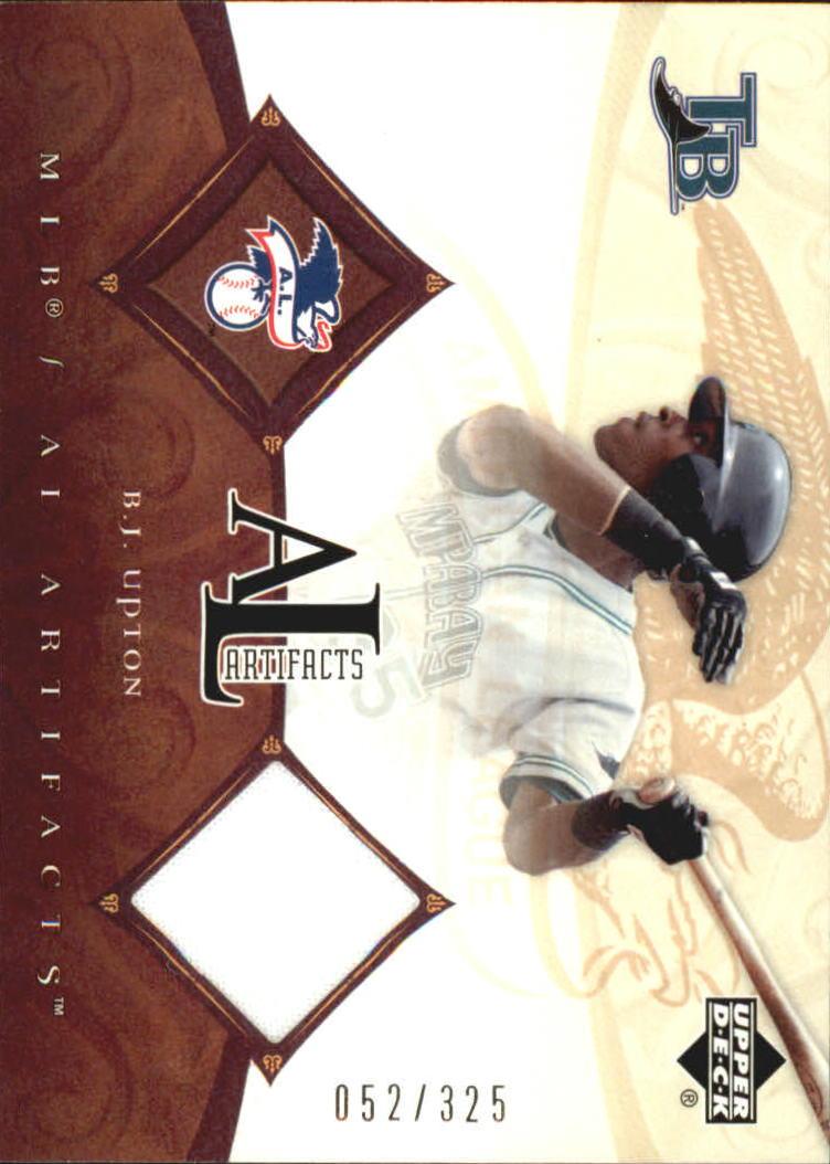 2005 Artifacts AL/NL Artifacts #BU B.J. Upton Jsy/325