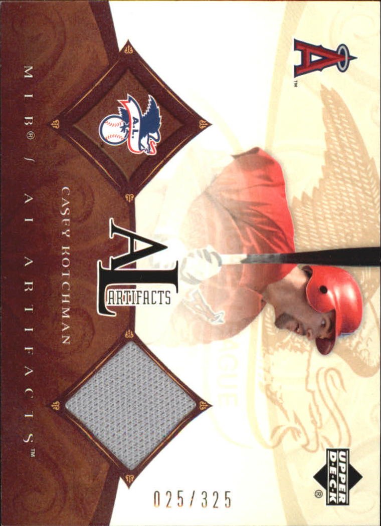 2005 Artifacts AL/NL Artifacts #CK Casey Kotchman Jsy/325