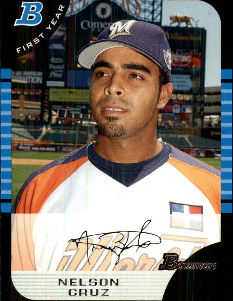 2005 Bowman Draft #165 Nelson Cruz FY RC