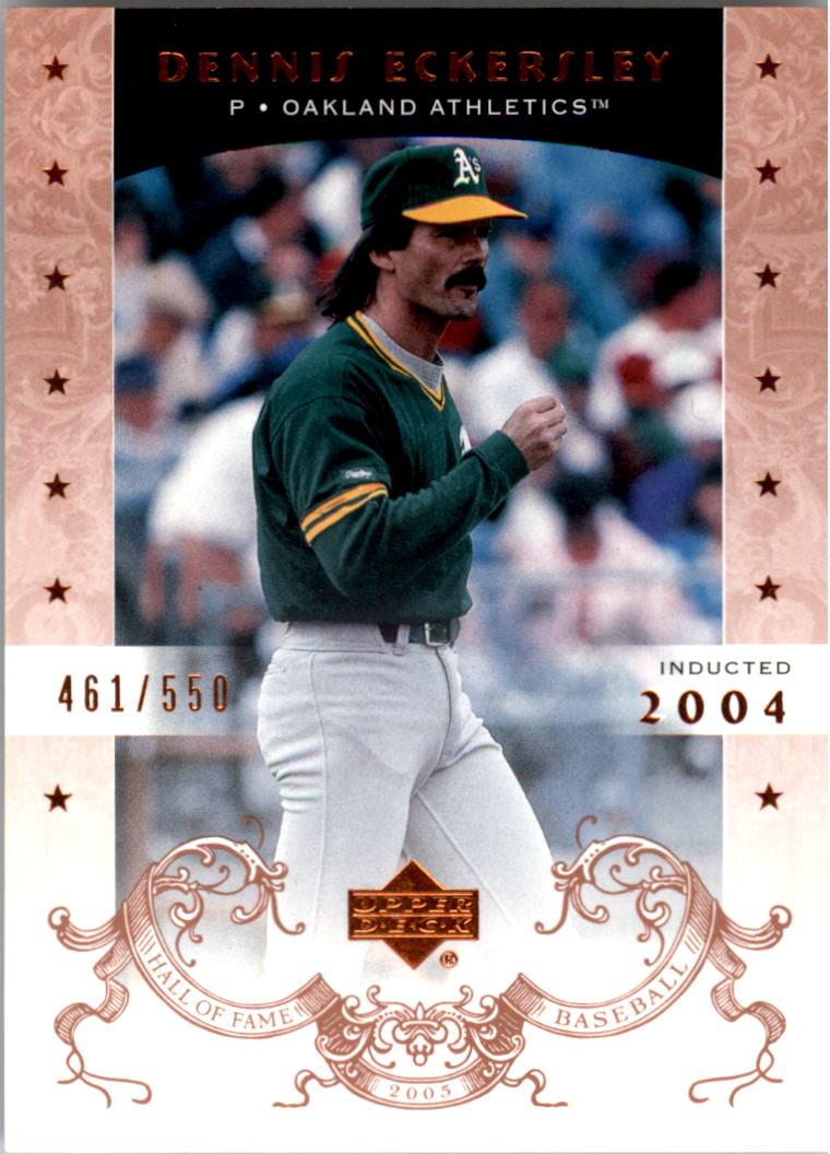 2005 Upper Deck Hall of Fame #16 Dennis Eckersley