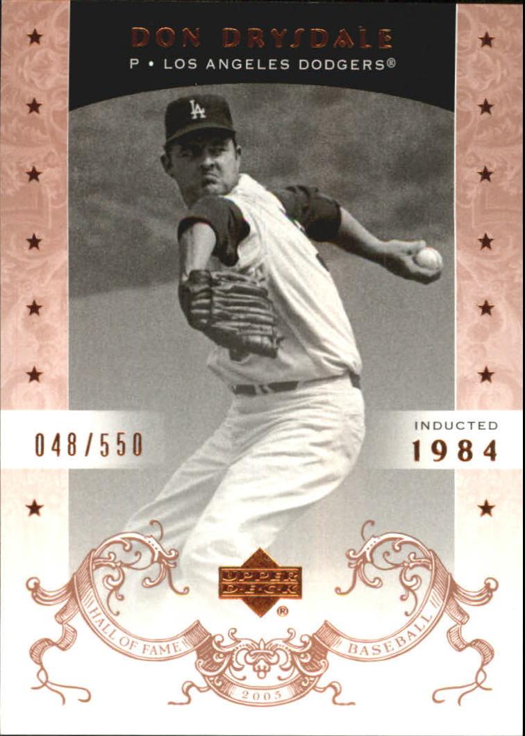 2005 Upper Deck Hall of Fame #18 Don Drysdale
