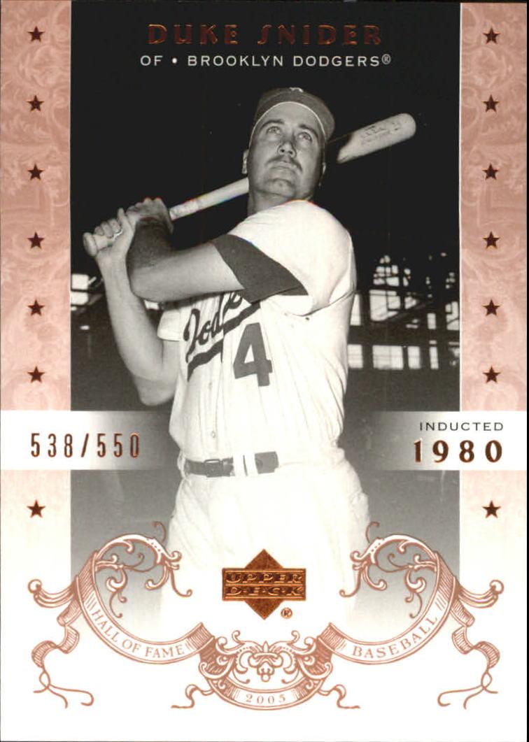 2005 Upper Deck Hall of Fame #20 Duke Snider