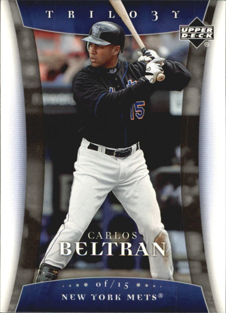 2005 Upper Deck Trilogy #16 Carlos Beltran