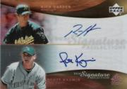 2005 Reflections Dual Signatures #RHSK Rich Harden/Scott Kazmir T3