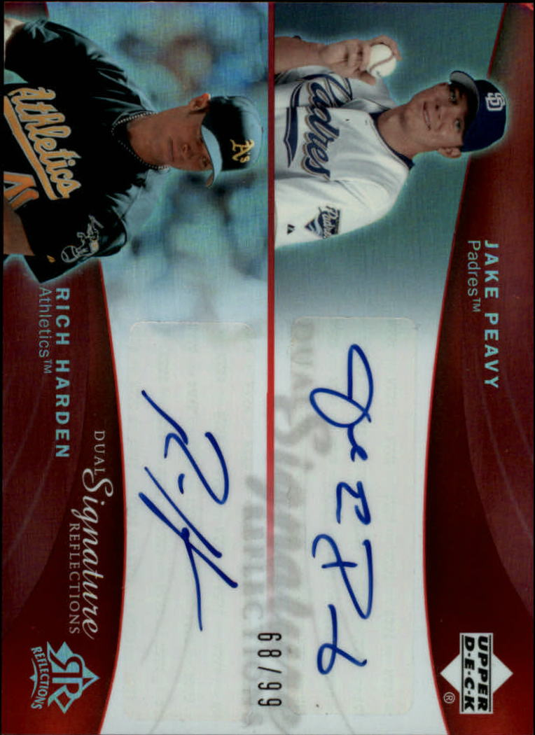 2005 Reflections Dual Signatures Red #JPRH Jake Peavy/Rich Harden