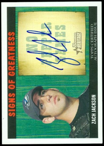 2005 Bowman Heritage Signs of Greatness #ZJ Zach Jackson A