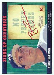 2005 Bowman Heritage Signs of Greatness Red Ink #RZ Ryan Zimmerman