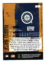 2005 Leather and Lumber #2 Adrian Beltre back image