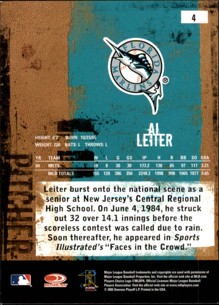 2005 Leather and Lumber #4 Al Leiter back image