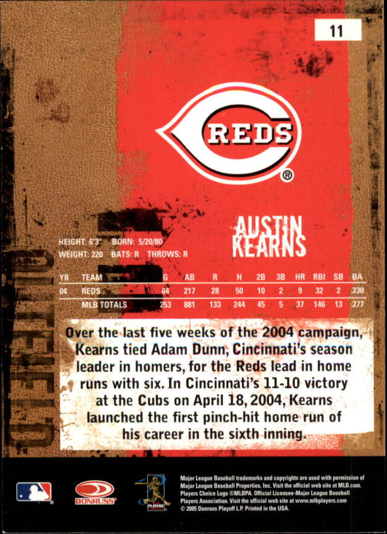 2005 Leather and Lumber #11 Austin Kearns back image
