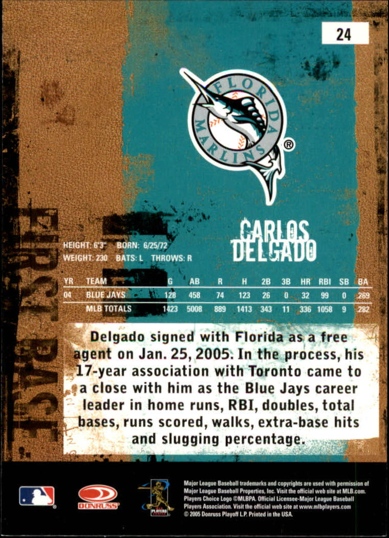 2005 Leather and Lumber #24 Carlos Delgado back image