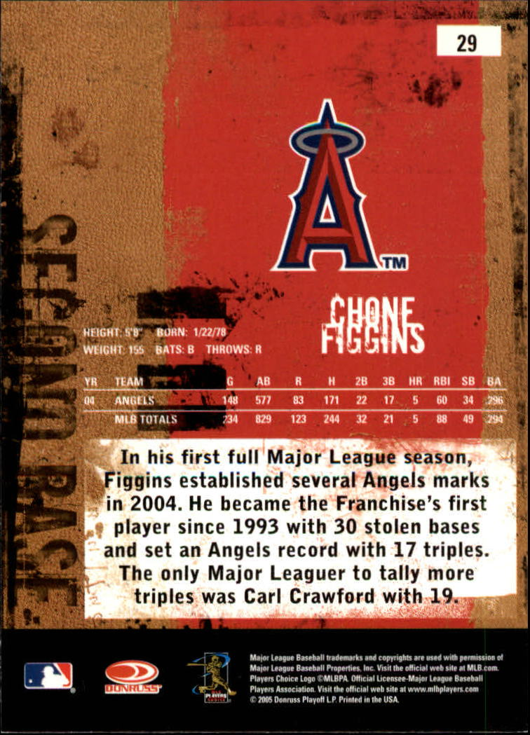 2005 Leather and Lumber #29 Chone Figgins back image