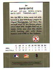 2005 Donruss Classics #34 David Ortiz back image