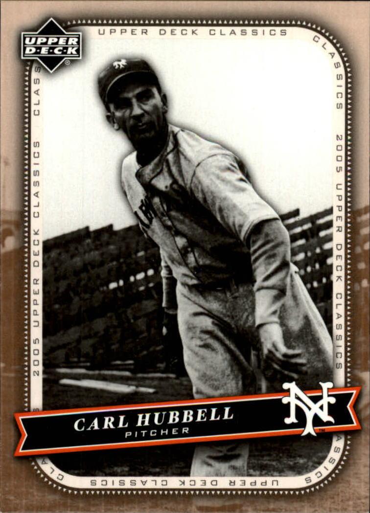 2005 Upper Deck Classics #18 Carl Hubbell