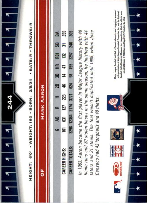 2005 Donruss Champions #244 Hank Aaron back image