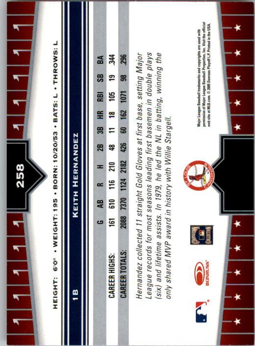 2005 Donruss Champions #258 Keith Hernandez back image