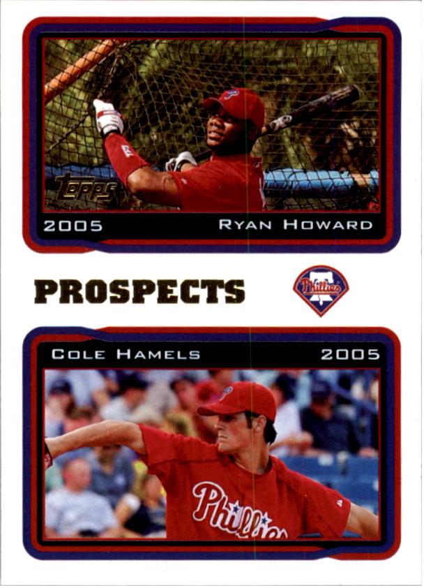 2005 Topps #689 R.Howard/C.Hamels