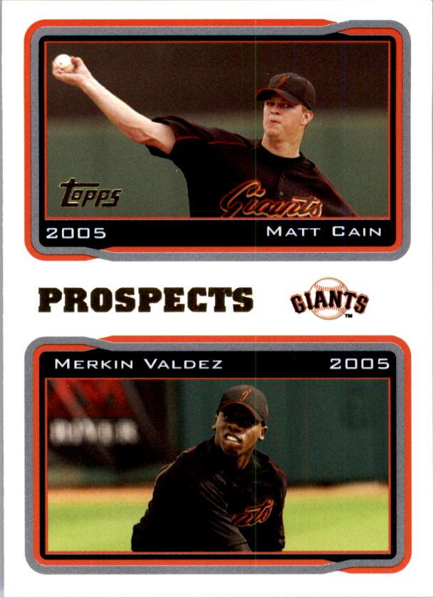 2005 Topps #690 M.Cain/M.Valdez