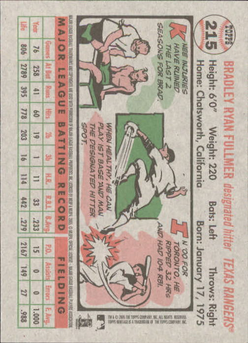 2005-Topps-Heritage-Baseball-Base-Singles-163-300-Pick-Your-Cards