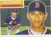2005 Topps Heritage #424 Jose Vaquedano SP RC