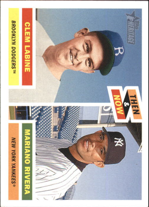 2005 Topps Heritage Then and Now #TN8 C.Labine/M.Rivera