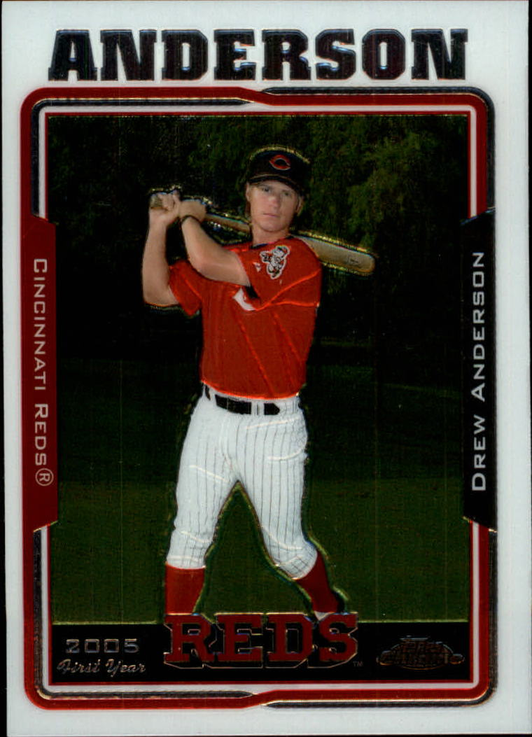 2005 Topps Chrome Update #106 Drew Anderson FY RC