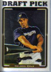 2005 Topps Chrome Update #210 Nelson Cruz FY RC