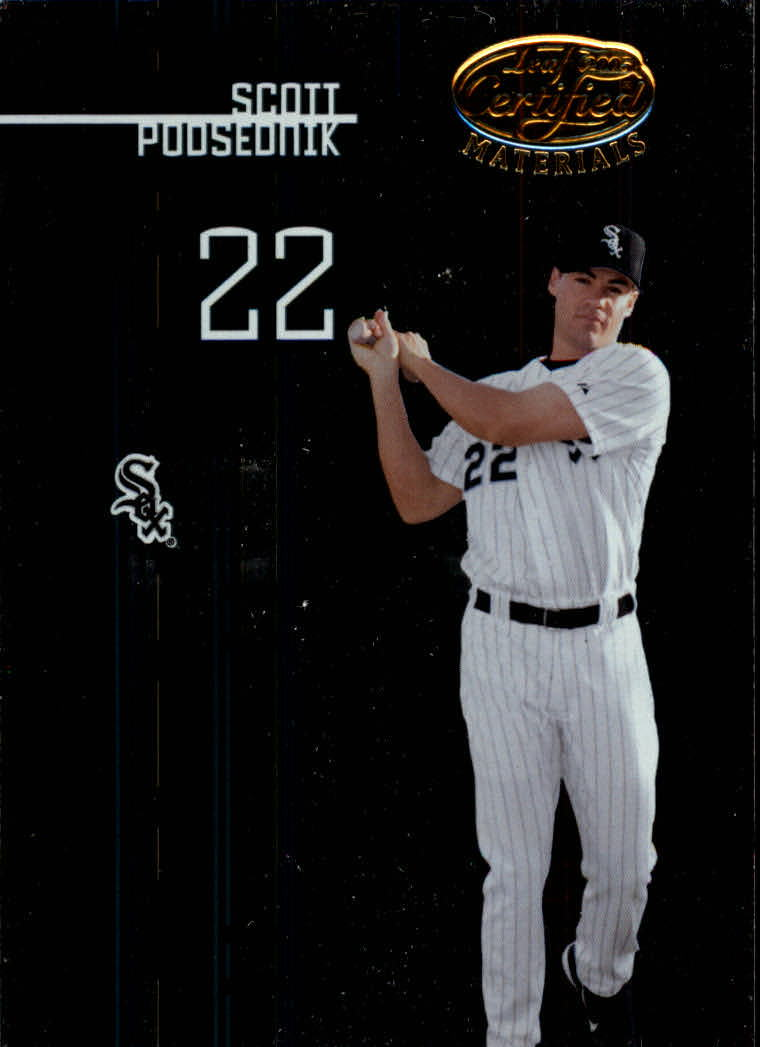 2005 Leaf Certified Materials #132 Scott Podsednik