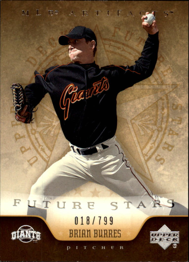 2005 Artifacts #207 Brian Burres FS RC
